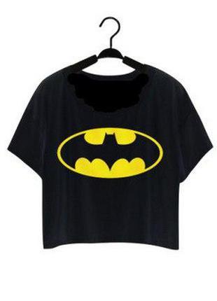 Женская футболка бетман, черного цвета, размер s