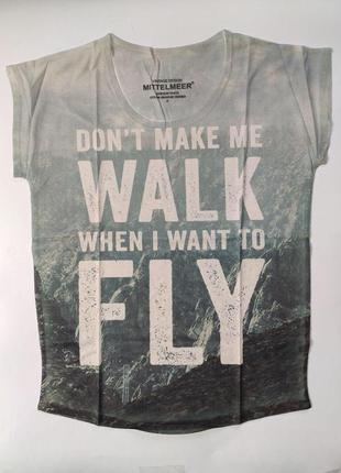 Женская футболка с надписями, размер s