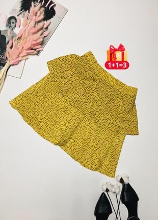 1+1=3 🎃 яркая стильная юбка с оборкой в горошек от kilibbi