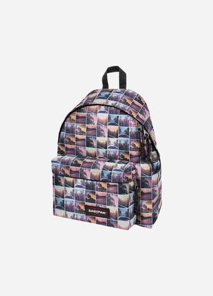 Оригінальний принтований рюкзак eastpak padded pak'r pink filter bag