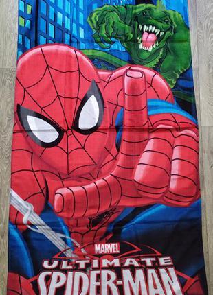 Пляжное детское полотенце для мальчика со спайдерменом,уценка
