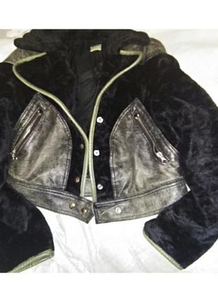 Куртка меховая с кожаными элементами.