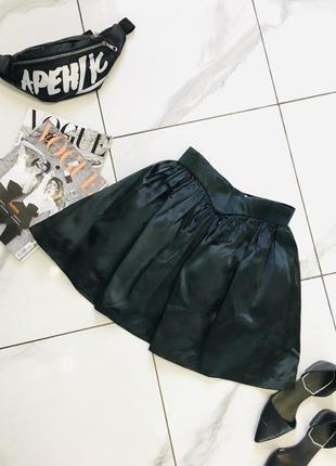 1+1=3 🎃 винтажная пышная черная атласная сатиновая юбка в стиле готика рок fatters london