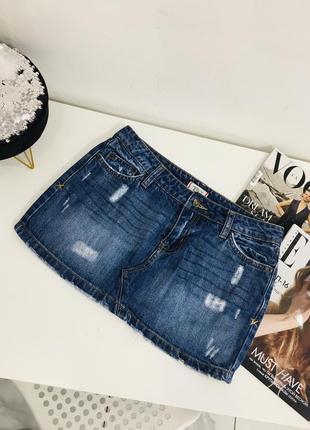 1+1=3 🎃 красивая джинсовая мини юбка из денима tilt