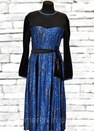 Коктейльное нарядное платье а-силуэт