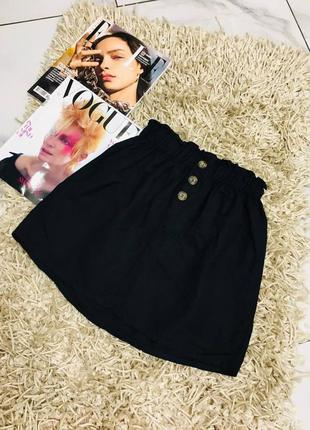 1+1=3 🎃 шикарная трендовая юбка из льна с декоративными пуговицами от bershka