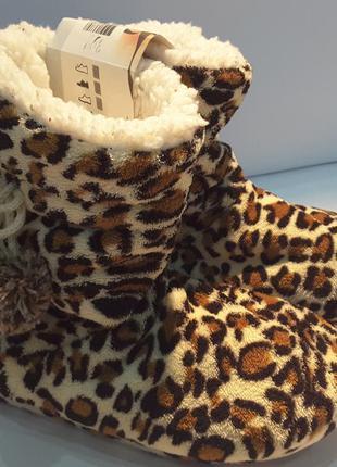 Леопардовые тапочки сапожки ,35/36 р, girls footwear bv, нидерланды1 фото