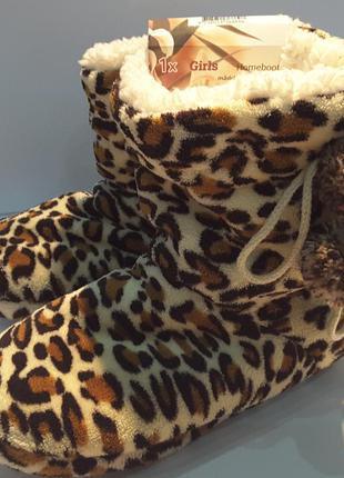 Леопардовые тапочки сапожки ,35/36 р, girls footwear bv, нидерланды3 фото
