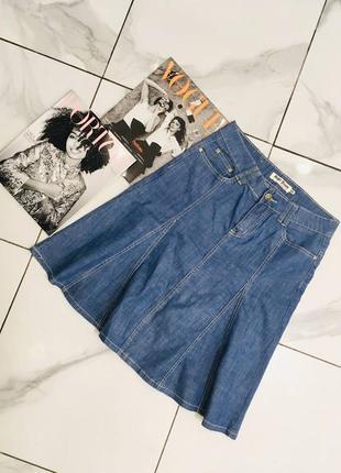 1+1=3 🎃 трендовая джинсовая юбка расклешенная к низу от diker jeans