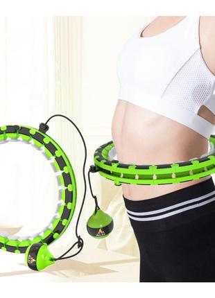 Обруч умный массажный не падающий разборной для похудения живота, талии и боков хулахуп hula hoop ml (hh2)