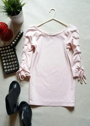 Пудровая кофта со шнуровкой pink & pepper