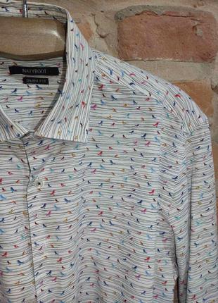 Стиляжная рубашка с птичками
