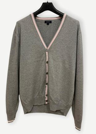 Кардиган свитер gant свитшот чоловічий сірий