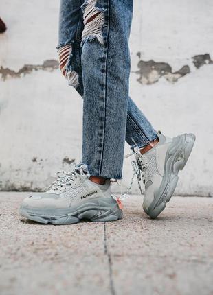 Женские кроссовки balenciaga triple s «gray»