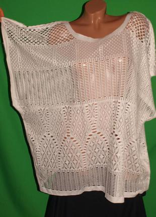 Ажурная блуза (хл - 2хл) лёгкая ,с узором, красивая, отлично смотрится.