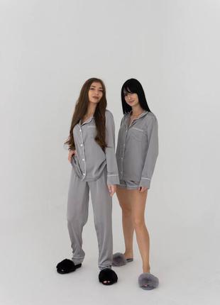 Пижама 3 в 1 рубашка шорты и штаны