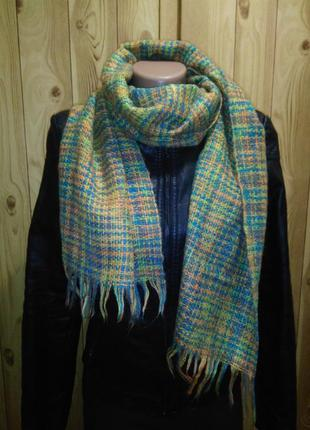 Красивый шерстяной (мохеровый) большой шарф.