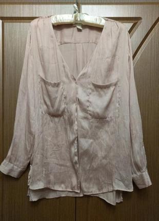 Пудровая блуза в бельевом стиле