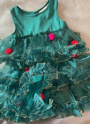 Платья костюм новогоднее елочка h&m
