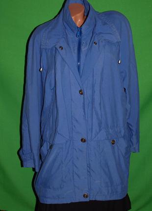 Куртка-ветровка (хл замеры) на молнии, без нюансов, с кармашками, отлично смотрится