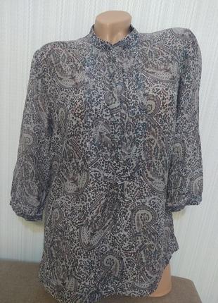Massimo dutti хлопок шёлк блузка рубашка кофточка