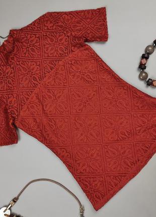 Блуза топ шикарная оригинальная кружево гипюр guess m