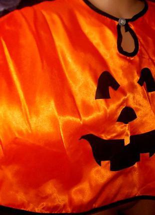 Маскарадная накидка тыква хэллоуин на 3-5 лет