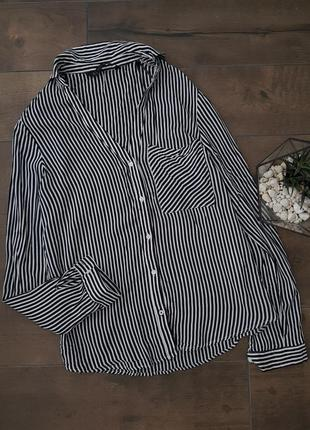 Блуза рубашка в полоску zara