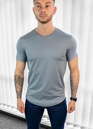 Мужская футболка темно бирюзовая