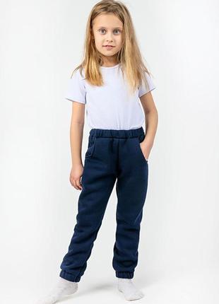 Дитячі ціна від 219 грн. теплі штани, темнo-сині