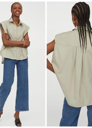 H&m рубашка с поплина. cos