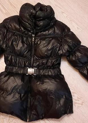 Зимняя куртка zara пух/перо на 5-6 лет