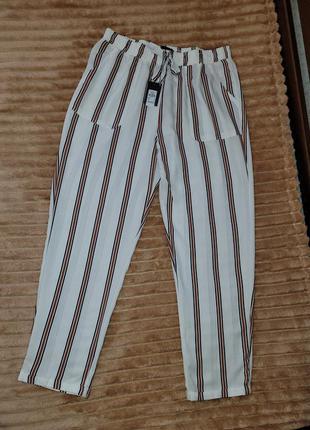 Полосатые лёгкие летнии брюки