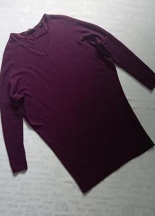 Модная кофта-туника «летучая мышь»/теплый удлиненный свитер esprit
