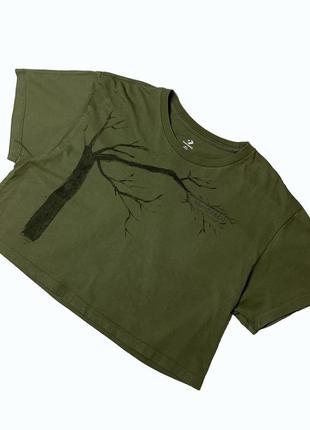 Укороченная футболка, converse футболка