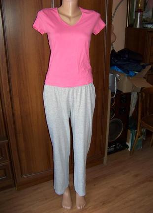 Серые котоновые пижамные или домашние брюки c&a