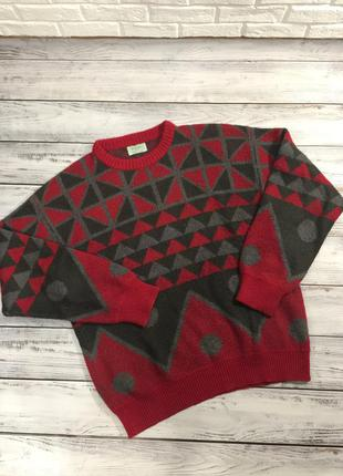 Вязаный винтажный свитер benetton