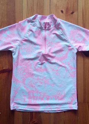 Детская купальная солнцезащитная пляжная футболка для плавания для бассейна отдыхаl