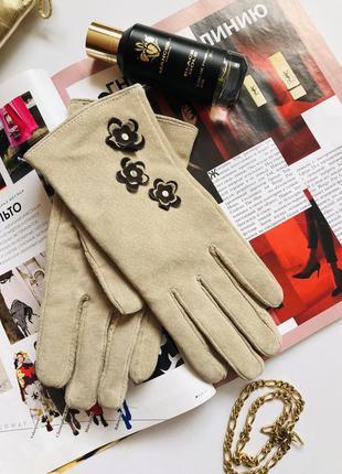 Замшеві теплі рукавиці еска-емам