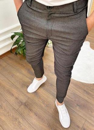 Мужские брюки серого цвета