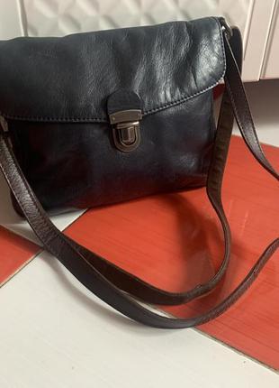Шикарная кожаная сумка white stuff через плечо/кроссбоди/кожа