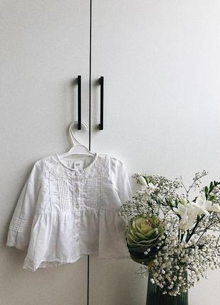 Сорочка , сорочечка h&m, hm, блузка, блуза, блузочка , 6-9, 9-12, 74 , 80 , кофта , кофточка , кофтинка