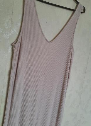 Жіночий комбінезон штани палаццо в рубчик