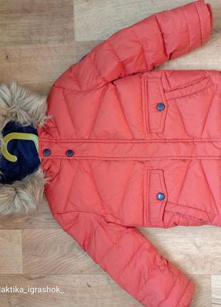 Куртка, парка, курточка евро зима, холодная осень 104р идеальное состояние