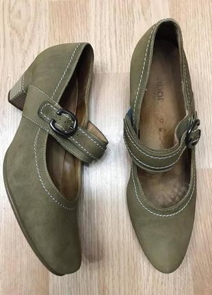 Туфли gabor натуральная кожа р.41/42 ст.27/27,5см