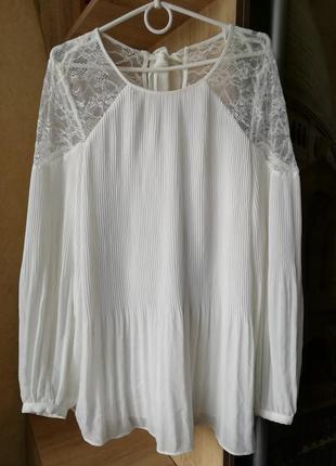 Шикарная кружевная блуза xl