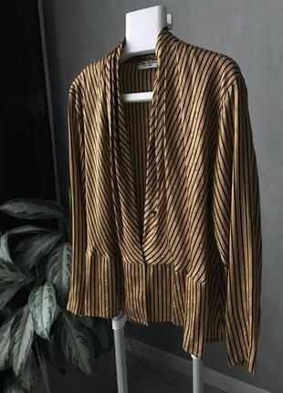 Шикарная блуза 100% шёлк anne klein hong kong 🇭🇰