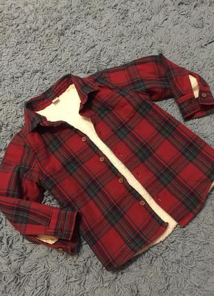 Теплющая рубашка на меху