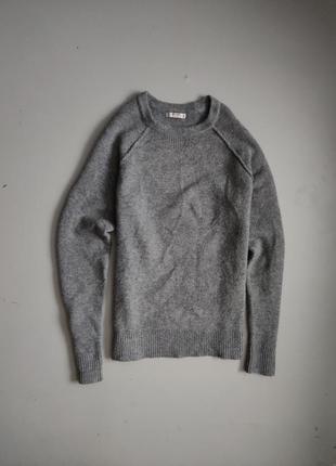 Мужской шерстяной+ хлопковый свитер mango