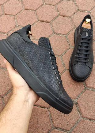 Кожаные ботинки  кеды billionaire